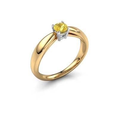 Foto van Verlovingsring Nichole 585 goud gele saffier 4.2 mm