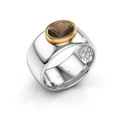 Picture of Ring Anouschka 585 white gold smokey quartz 8x6 mm