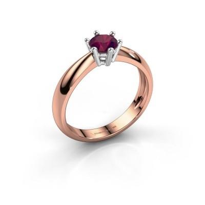 Foto van Verlovingsring Fay 585 rosé goud rhodoliet 5 mm