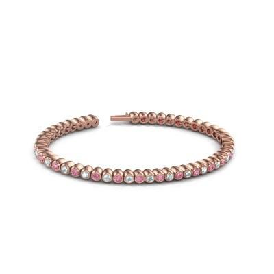 Foto van Tennisarmband Patrica 750 rosé goud roze saffier 2.4 mm
