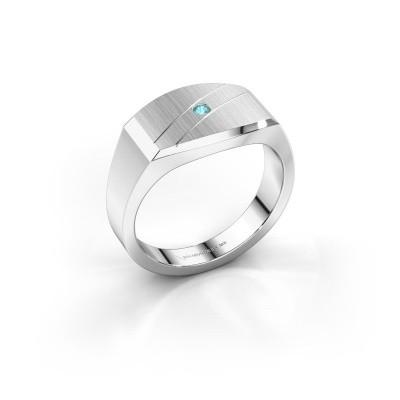 Foto van Heren ring Joe 3 925 zilver blauw topaas 2 mm
