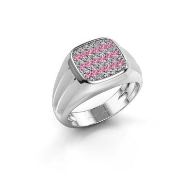 Foto van Pinkring Robbert 925 zilver roze saffier 1.4 mm