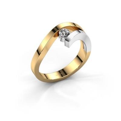Ring Evalyn 1 585 goud diamant 0.20 crt