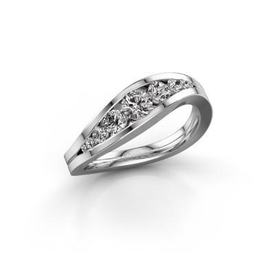 Foto van Ring Sigrid 2 585 witgoud diamant 0.594 crt