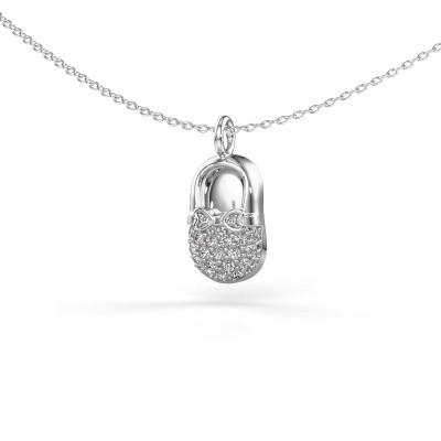 Picture of Pendant Babyshoe 925 silver zirconia 1.3 mm