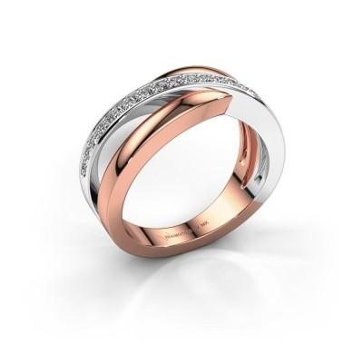 Foto van Ring Colette 585 rosé goud diamant 0.20 crt