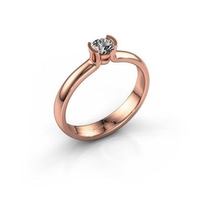 Foto van Verlovingsring Ophelia 585 rosé goud diamant 0.25 crt