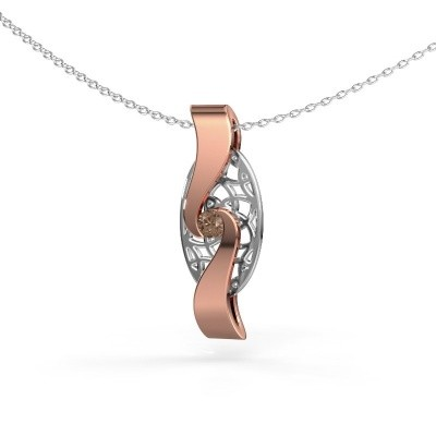 Picture of Pendant Darleen 585 rose gold brown diamond 0.10 crt