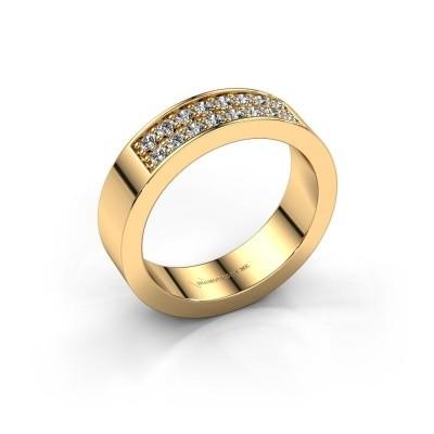 Foto van Aanschuifring Catharina 5 375 goud diamant 0.32 crt