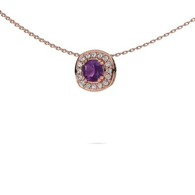 Picture of Necklace Carolina 375 rose gold amethyst 5 mm