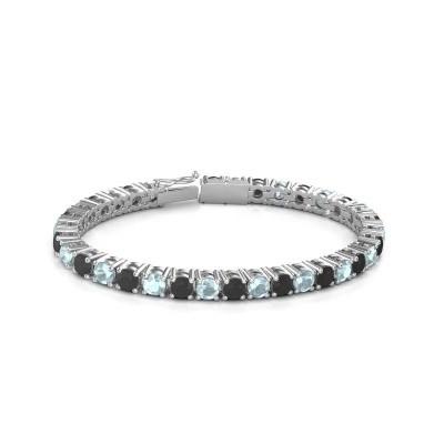 Foto van Tennisarmband Ming 750 witgoud zwarte diamant 18.70 crt