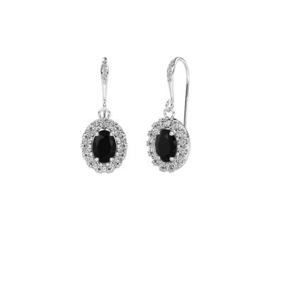 Picture of Drop earrings Jorinda 2 375 white gold black diamond 2.51 crt