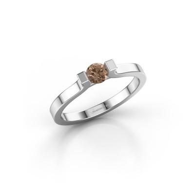 Foto van Verlovingsring Jodee 585 witgoud bruine diamant 0.25 crt