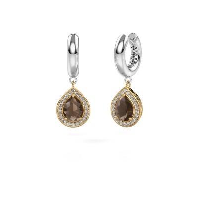 Picture of Drop earrings Barbar 1 585 gold smokey quartz 8x6 mm