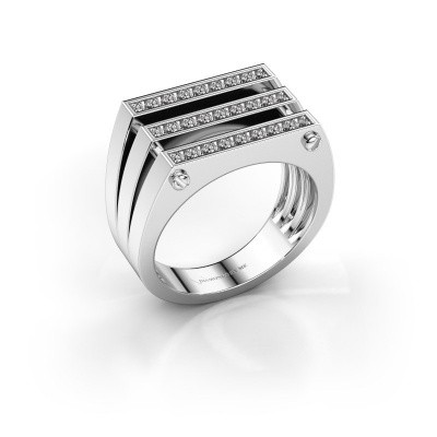 Foto van Heren ring Jauke 950 platina zirkonia 1.7 mm
