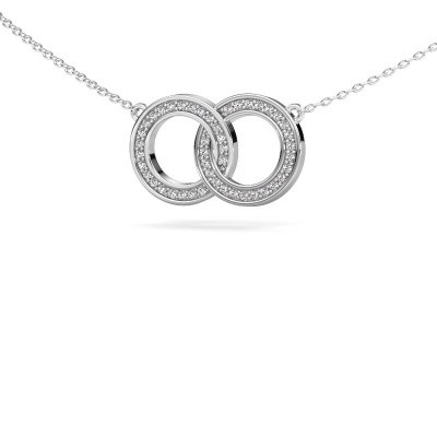 Picture of Necklace Circles 1 925 silver zirconia 1 mm