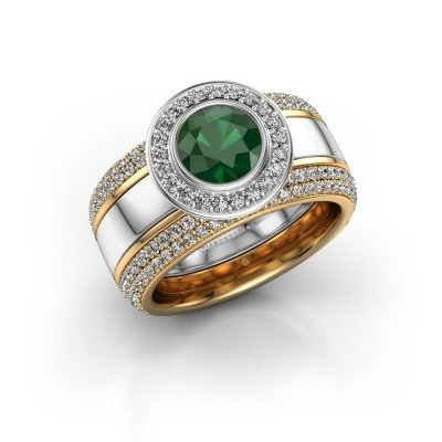 Picture of Ring Roxie 585 white gold emerald 6.5 mm