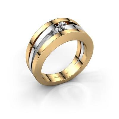 Foto van Ring Valerie 585 goud diamant 0.16 crt