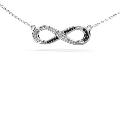 Picture of Necklace Infinity 2 585 white gold black diamond 0.134 crt