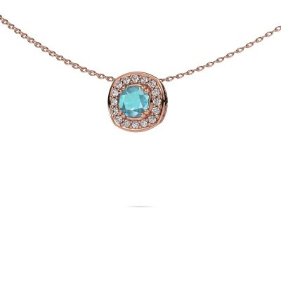 Picture of Necklace Carolina 375 rose gold blue topaz 5 mm