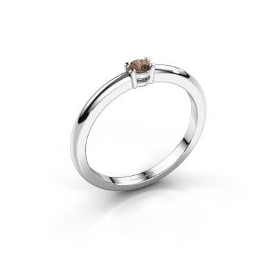 Foto van Verlovingsring Michelle 1 925 zilver bruine diamant 0.08 crt