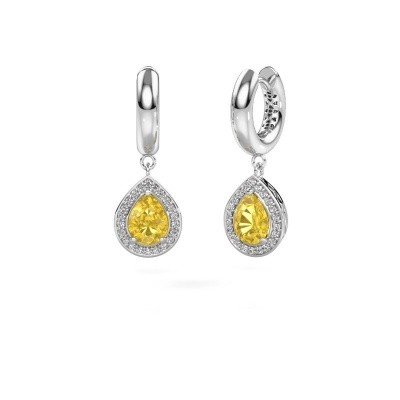Picture of Drop earrings Barbar 1 950 platinum yellow sapphire 8x6 mm