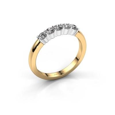 Foto van Verlovingsring Yasmin 5 585 goud diamant 0.50 crt