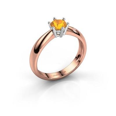 Foto van Verlovingsring Fay 585 rosé goud citrien 5 mm