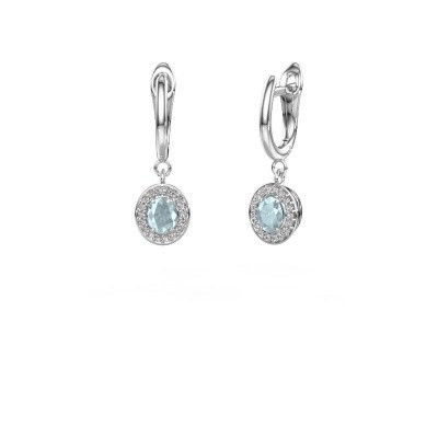 Picture of Drop earrings Nakita 585 white gold aquamarine 5x4 mm