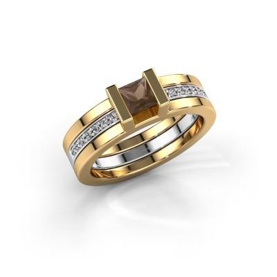 Foto van Ring Desire 585 goud rookkwarts 4 mm