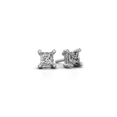 Oorstekers Sam square 585 witgoud diamant 0.80 crt