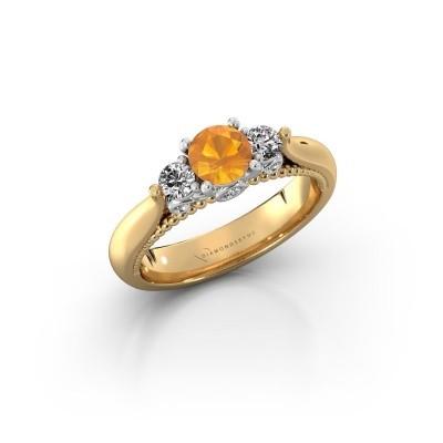 Foto van Verlovingsring Tiffani 585 goud citrien 5 mm