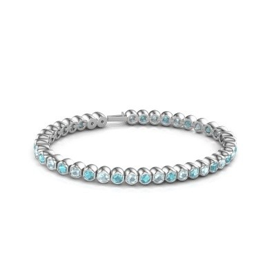 Foto van Tennisarmband Mellisa 585 witgoud blauw topaas 3.5 mm