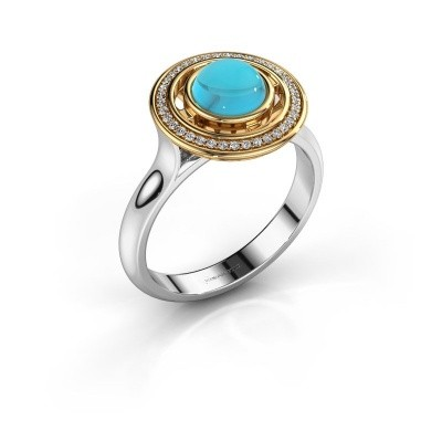 Picture of Ring Salima 585 white gold blue topaz 6 mm