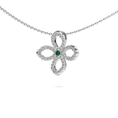 Picture of Necklace Chelsea 925 silver emerald 2 mm