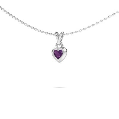 Picture of Pendant Charlotte Heart 375 white gold amethyst 4 mm
