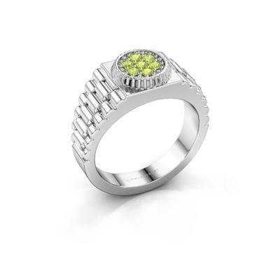 Foto van Rolex stijl ring Nout 925 zilver peridoot 2 mm