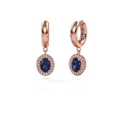Picture of Drop earrings Annett 375 rose gold sapphire 7x5 mm