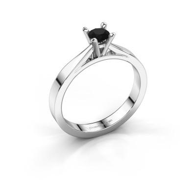 Foto van Aanzoeksring Catrina 585 witgoud zwarte diamant 0.30 crt