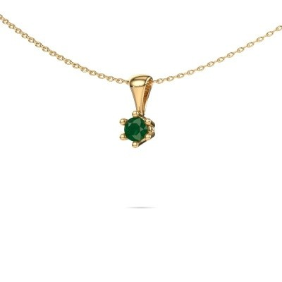 Picture of Necklace Fay 375 gold emerald 4 mm