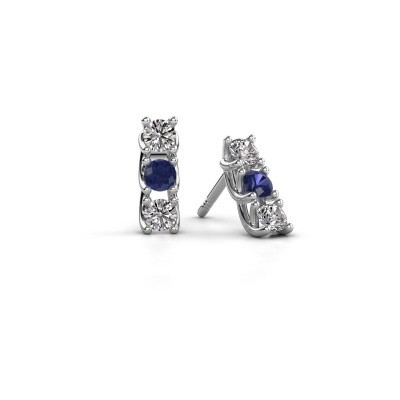 Picture of Earrings Fenna 585 white gold sapphire 3 mm