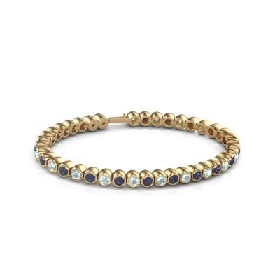 Foto van Tennisarmband Mellisa 375 goud saffier 3.5 mm