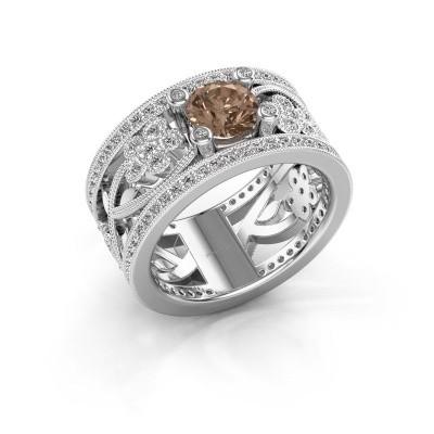 Foto van Ring Severine 925 zilver bruine diamant 1.405 crt