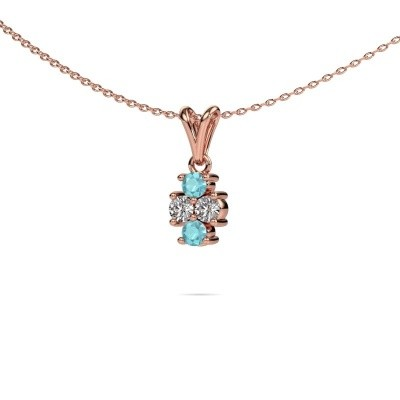 Picture of Necklace Richelle 585 rose gold blue topaz 3 mm