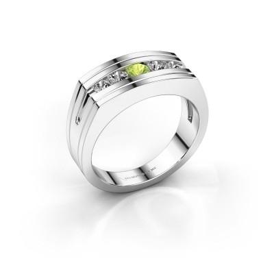 Foto van Heren ring Huub 925 zilver peridoot 3.7 mm