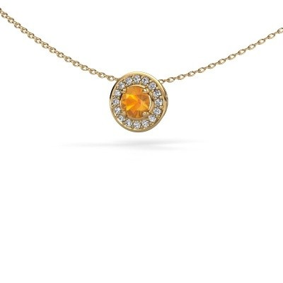 Picture of Pendant Agaat 585 gold citrin 5 mm