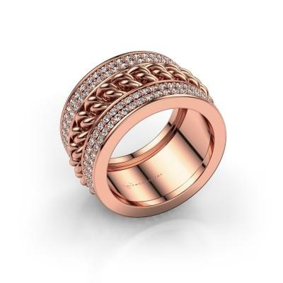 Foto van Ring Jayda 375 rosé goud diamant 1.50 crt