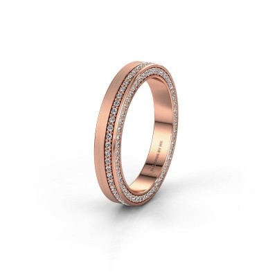 Trouwring WH2214L15BM 585 rosé goud lab created 0.55 crt ±5x2 mm