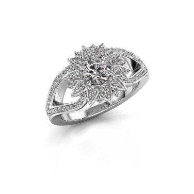 Aanzoeksring Chasidy 2 585 witgoud diamant 0.825 crt