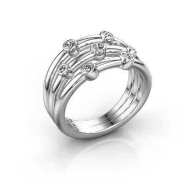 Ring Chloe 585 witgoud diamant 0.18 crt